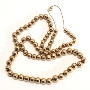 Jewelry - 14K Gold Chain with 79 Gold Beads
